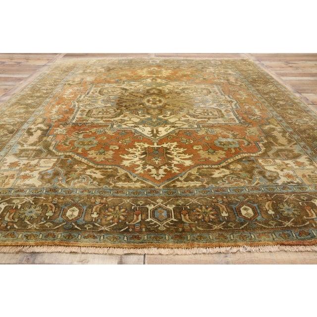 Textile Vintage Persian Heriz Rug - 8'1 X 10'3 For Sale - Image 7 of 10