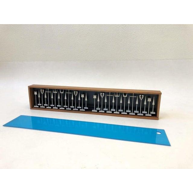 1960s 1962 Aluminum Chess Set by Austin Enterprises For Sale - Image 5 of 10