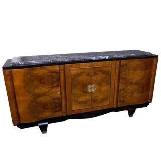 1940s Vintage Parisian Walnut Sideboard For Sale