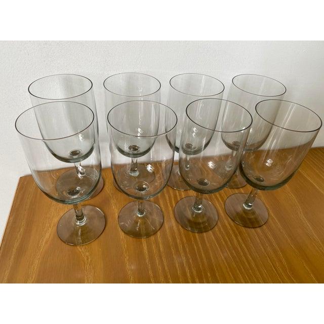 Per Lutken Holmegaard 1950s Holmegaard Denmark Elsinore Smoke Glass Stemware - Set of 8 For Sale - Image 4 of 8