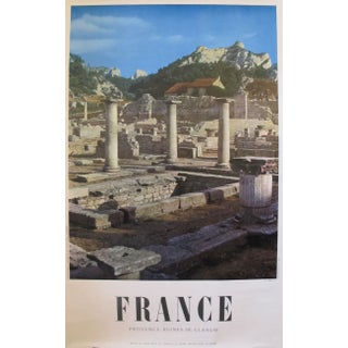 1950s Travel Poster, Provence Ruines de Glanum For Sale