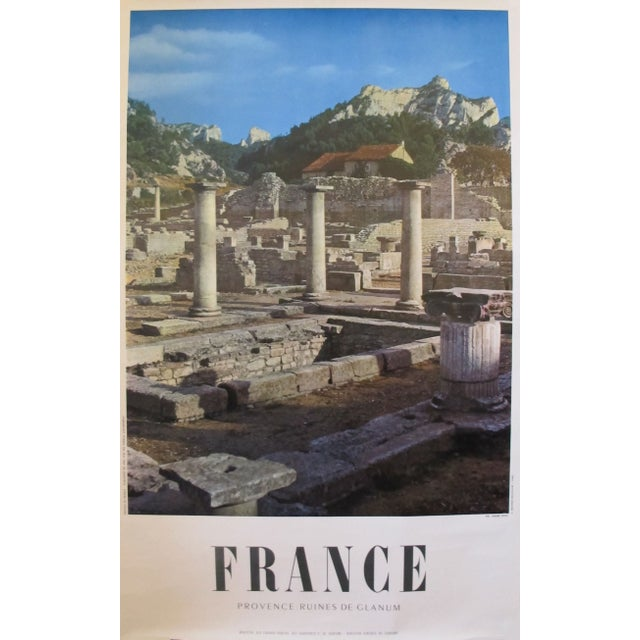 1950s Travel Poster, Provence Ruines de Glanum For Sale
