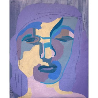 "Contemporary Abstract Portrait Painting ""I Was Looking for Her, No. 2"" For Sale"
