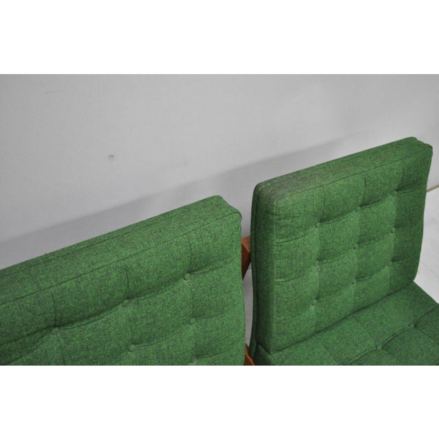 1960s 1960s Vintage Gjerlov Knudsen Torben Lind France & Son Green Teak Moduline Slipper Chairs- A Pair For Sale - Image 5 of 11