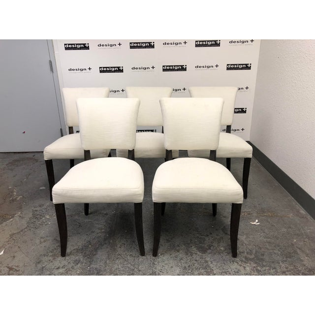 Set of Five Restoration Hardware Adèle Fabric Side Chairs For Sale - Image 13 of 13