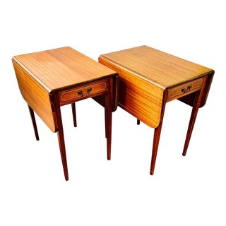 1950s Drop Leaf Pembroke Tables - a Pair For Sale