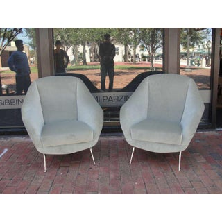 Vintage Italian Pair of Open Arm Chairs Preview