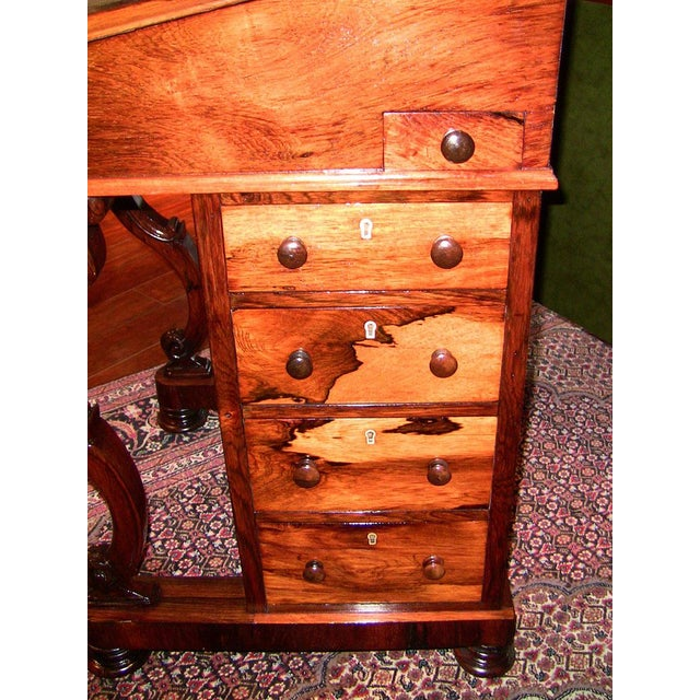 Early 19c British Davenport Desk in the Manner of Gillows For Sale - Image 4 of 13
