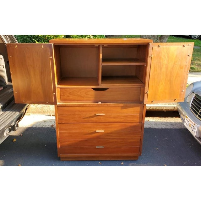 Vintage Lane Furniture Gentleman\'s Chest With Reversible Cane Doors