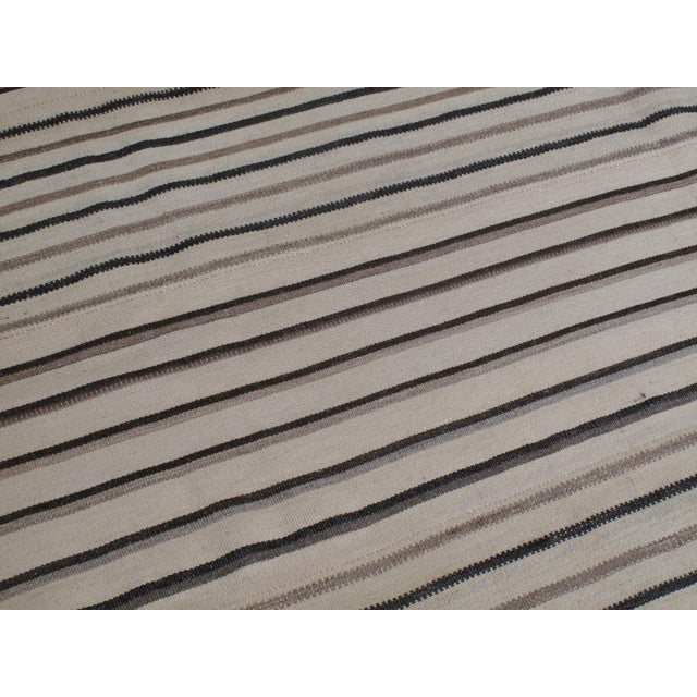 Contemporary Large Striped Kilim For Sale - Image 3 of 7