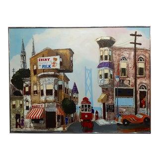 "Robert Farrington ""San Francisco City View"" Oil Painting For Sale"