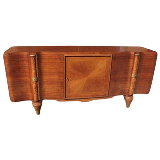 1940s Jules Leleu Palisander French Art Deco M-O-P Inlaid Sideboard For Sale