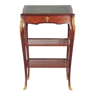 Louis XV Style Small Writing Desk / Table by Alfred Emmanuel Louis Beurdley For Sale