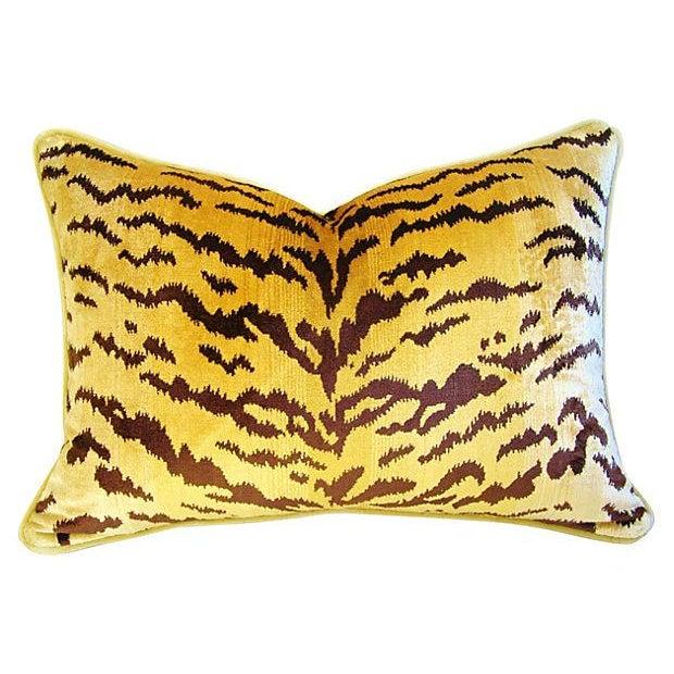 Custom Scalamandre Silk Le Tiger Pillows - A Pair - Image 3 of 6