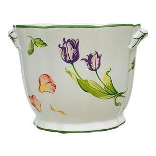 """Tiffany """"Tulips"""" Ivory Cachepot For Sale"""