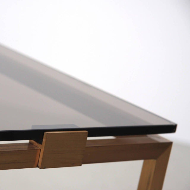 1970s Elegant Brass and Glass Coffee Table in the Manner of Maison Jansen For Sale - Image 5 of 6