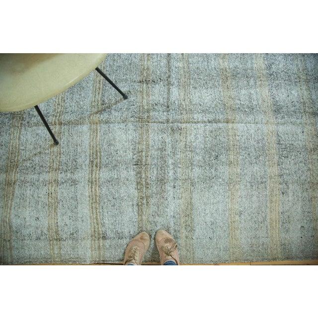 """Vintage Turkish Kilim Distressed Rug - 4'10"""" x 7' - Image 3 of 6"""