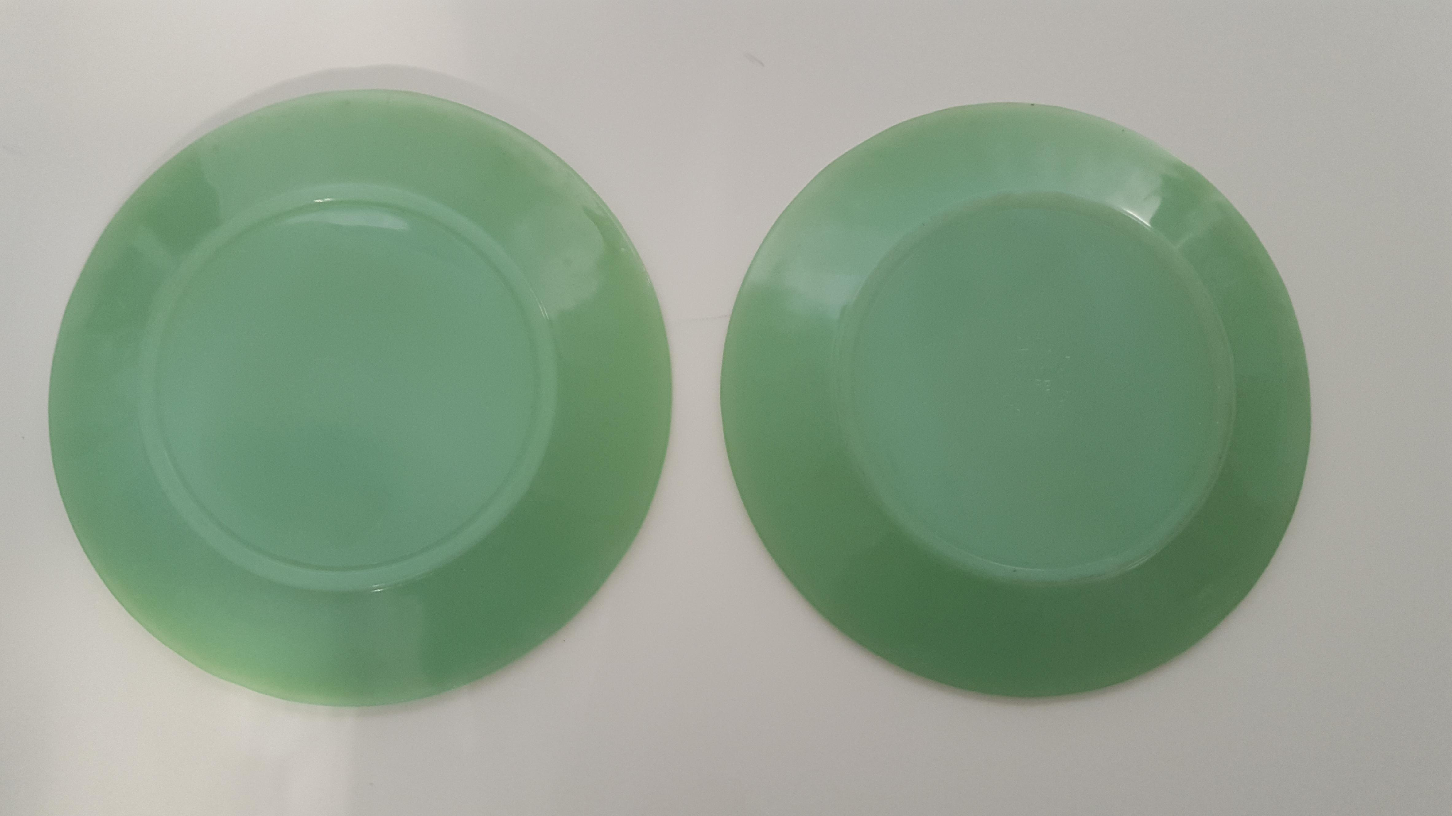 1960s Oven Fire King Jadeite Decorative Plates- A Set - Image 7 of 11  sc 1 st  Chairish & 1960s Oven Fire King Jadeite Decorative Plates- A Set | Chairish