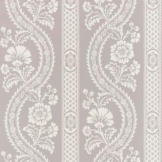 Sample - Schumacher Versailles Wallpaper in Grey For Sale