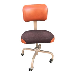1960's United Chair Company Mid-Century Burnt Orange Office Chair