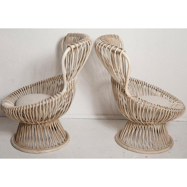 Franco Albini Restored Pair of 1950s Margherita Chairs by Franco Albini for Vittorio Bonacino For Sale - Image 4 of 9