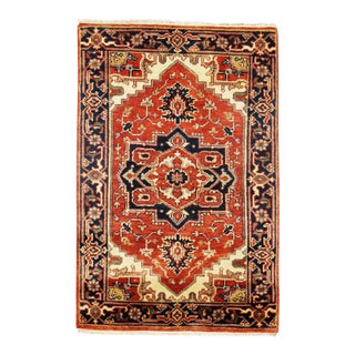 "Traditional Pasargad N Y Fine Serapi Design Hand-Knotted Rug - 2'9"" X 4'1"""