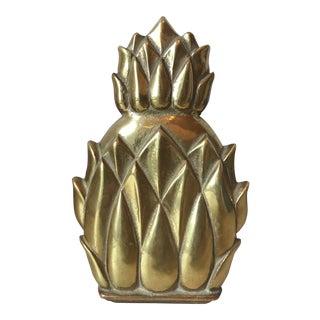 1970's Vintage Brass Pineapple Door Knocker For Sale