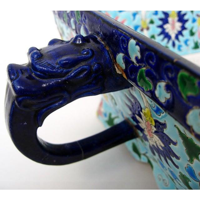 Ceramic Longwy Ceramic Jardiniere For Sale - Image 7 of 11