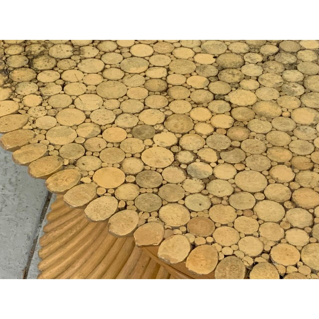 McGuire Sheaf of Wheat Rattan Coffee Table For Sale - Image 6 of 8