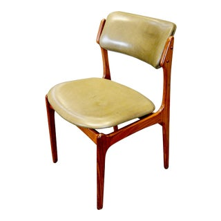 1960s Vintage Erik Buch Danish Rosewood & Leather Chair For Sale