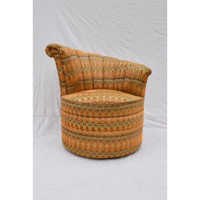 Channel Back Swivel Art Deco Inspired Chairs For Sale - Image 9 of 13