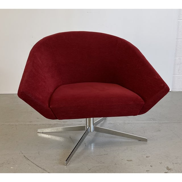 Red Remy Lounge Chair by Jeffrey Bernett for Bernhardt Design For Sale - Image 8 of 8