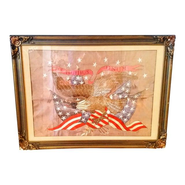 World War I Embroidered Souvenir American Eagle Flag - Image 1 of 8