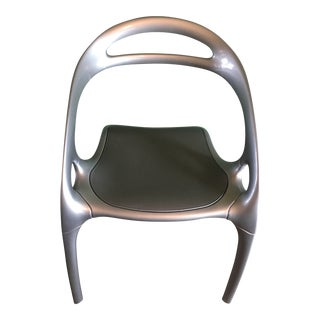 Ross Lovegrove Bernhardt Design Silver Modern Stacking Go Chair For Sale