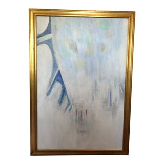 Abstract Painting in Soft Hues For Sale