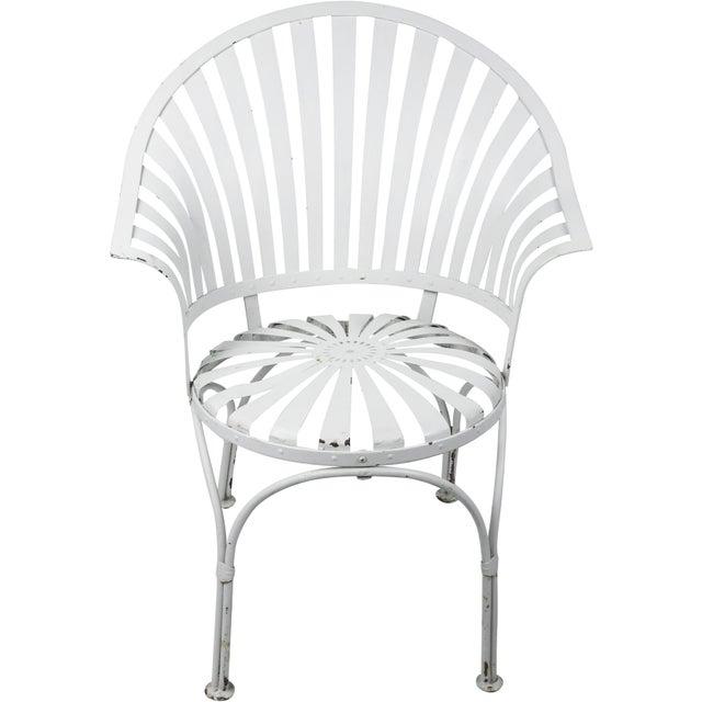 Francois Carre Vintage Fan Back Patio Armchair - Image 2 of 11