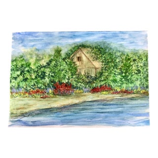 "Nancy Smith ""Overgrown"" Original Watercolor Landscape Painting For Sale"