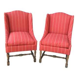 Red Side Chairs - A Pair For Sale