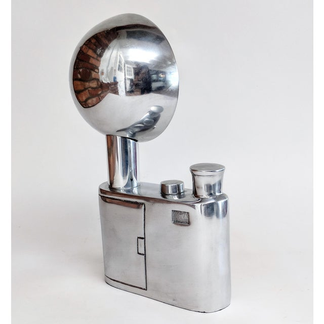 Aluminum Vintage Flash Camera Sculpture For Sale - Image 4 of 11