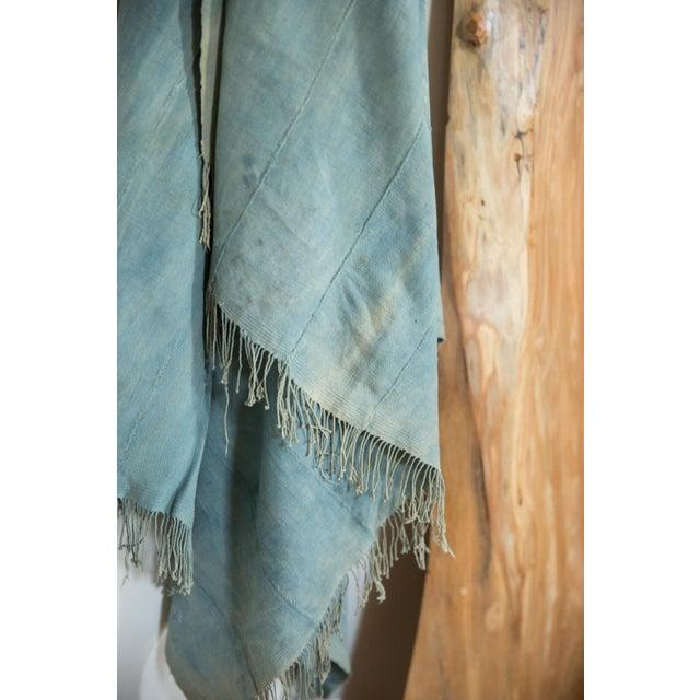 Mid 20th Century Vintage Denim Indigo African Textile Throw For Sale - Image 5 of 6