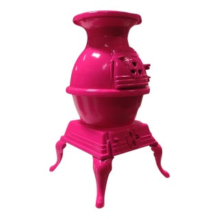 Hot Pink Pot Belly Stove For Sale