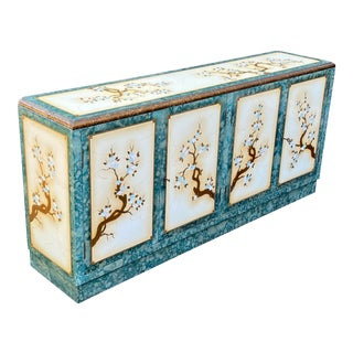 Chinoiserie Enameled Credenza For Sale