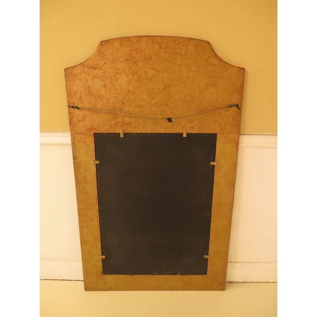 Iron Paint Decorated Designer Mirror with Beveled Glass For Sale In Philadelphia - Image 6 of 7