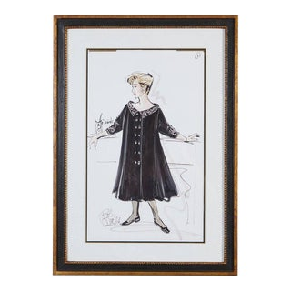 Signed Bob Mackie Fashion Drawing #1 for Rosemary Clooney from the Estate of RC For Sale