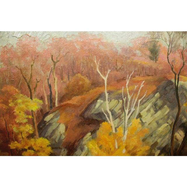 Realism Autumn Landscape Signed Buchholz For Sale - Image 3 of 6