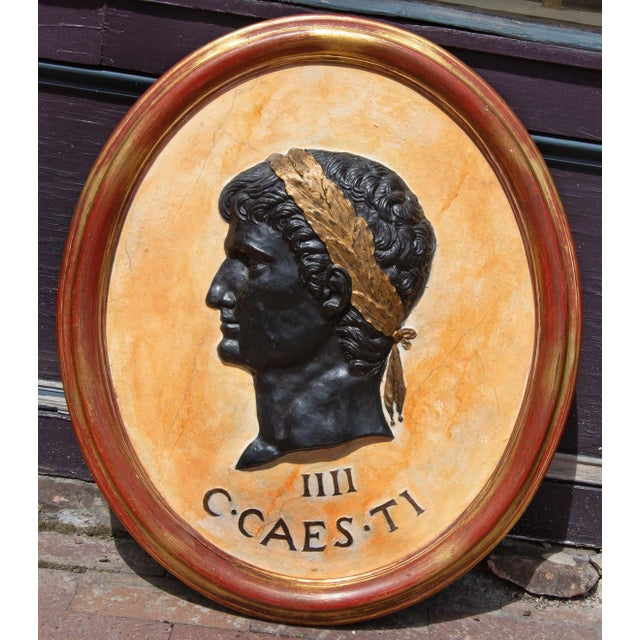 Classical Plaques of Roman Emperors - Set of 4 For Sale - Image 4 of 7