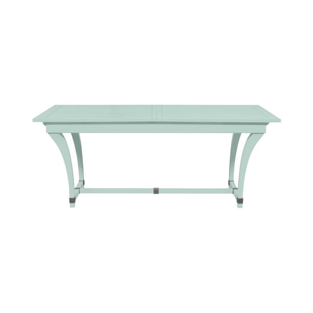 Traditional Casa Cosima Living Rhodes Dining Table - Palladian Blue For Sale - Image 3 of 3