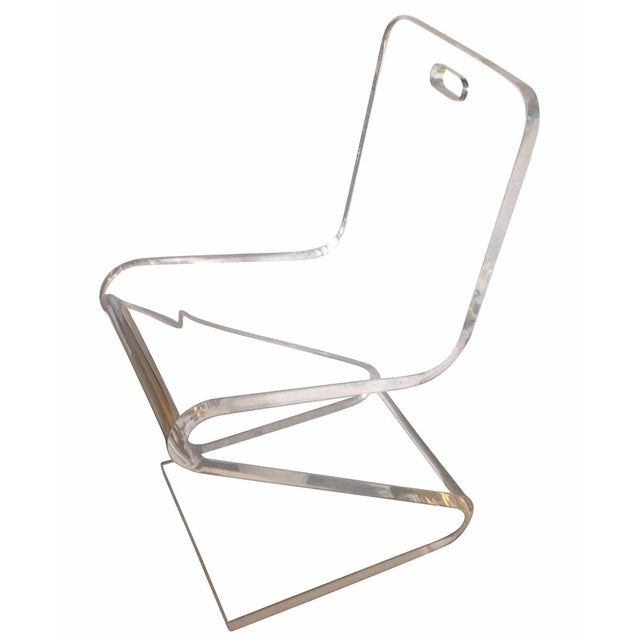 Vintage Lucite Z Chair - Image 1 of 6