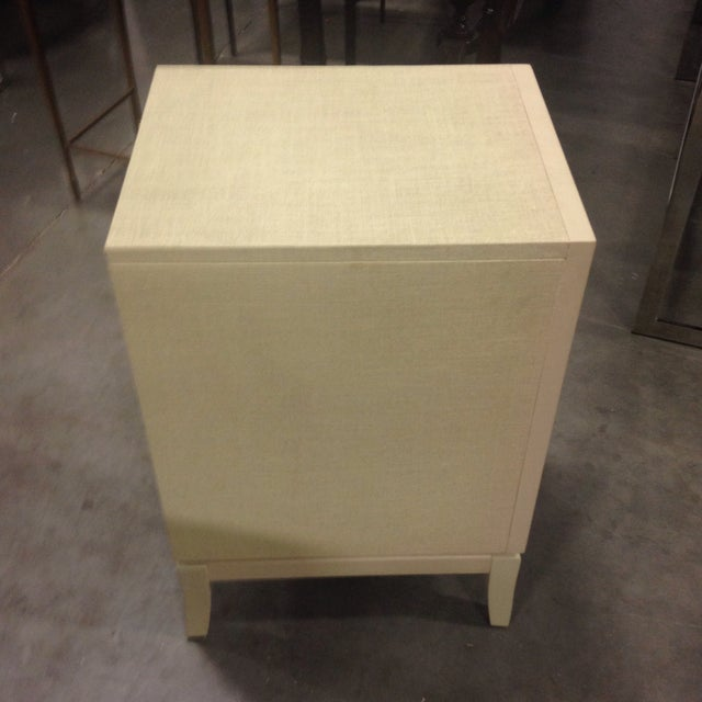 Bassett Taupe Wooden Side Table Chest - Image 4 of 6