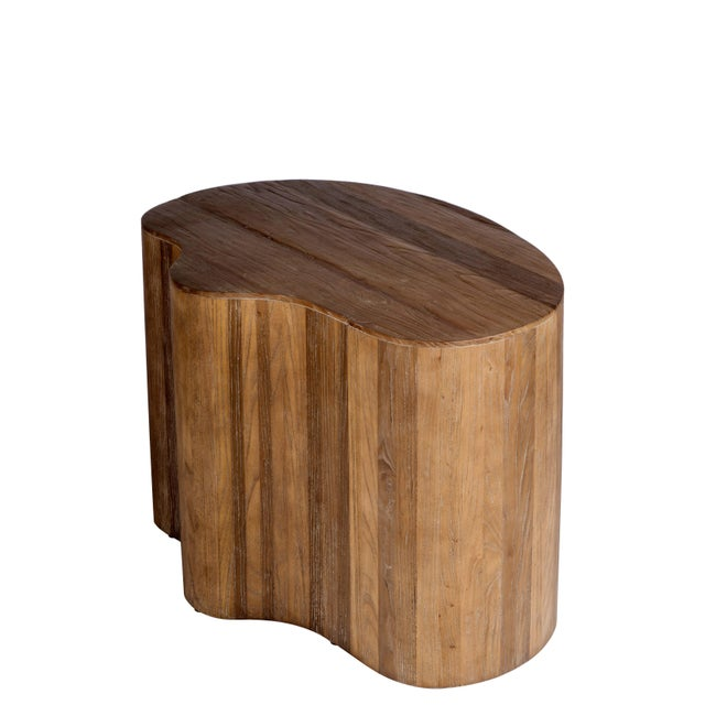 New elm wood side/coffee table with free form. Use it with Portia Coffee Table to complete the look. Material : Elm wood,...
